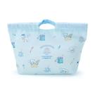 小禮堂 大耳狗 棉質束口手提袋 束口便當袋 午餐袋 小物袋 縮口袋 (藍 2021新生活) 4550337-42612