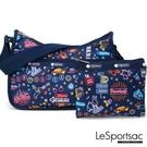 LeSportsac - Standard側背水餃包/流浪包-附化妝包 (迪斯可之夜) 7520P F694