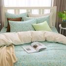 鴻宇 雙人特大薄被套床包組 100%精梳純棉 小綠莓 台灣製C20110