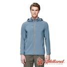 【wildland 荒野】男 彈性透氣抗UV輕薄外套『灰藍』0A91906 戶外 運動 露營 登山 吸濕 排汗 快乾