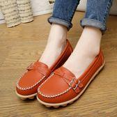 韓版時尚豆豆鞋防滑平底鞋一腳蹬懶人鞋學生女鞋