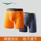 運動內褲專業運動內褲男士冰絲薄防磨腿長版訓練跑步防摩擦平角短褲2條裝