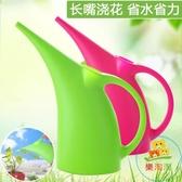 長嘴塑膠灑水壺澆水壺家用綠植盆栽噴水壺澆花壺噴壺園藝水壺【樂淘淘】