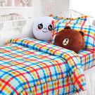 床包組-雙人加大 [彩虹約定] 藍 含兩件枕套, 纖維,Artis台灣製