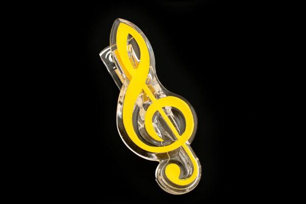【小叮噹的店】台製 NC020 高音符號夾 夾子 譜夾  樂譜夾、備忘夾