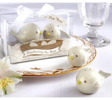 《婚禮小物- 天生一對喜鵲調味罐/50份》*喜糖/桌上禮/送客禮/二次進場/組