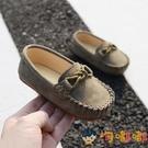 兒童豆豆鞋男童嬰兒透氣單鞋小童寶寶軟底小皮鞋【淘嘟嘟】