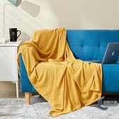 簡約復古素色毛毯沙發毯超薄蓋毯蓋腿小毯子【邻家小鎮】