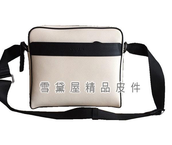 ~雪黛屋~COACH 斜背包中小容量隨身品中性國際正版保證進口防水防刮皮革品證購證塵套提袋C248761