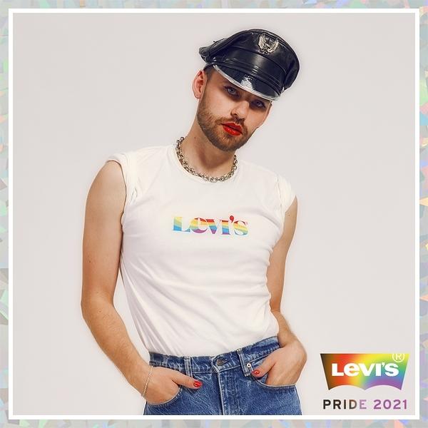 Levis Pride限量平權系列 男女同款 短袖T恤 / 彩虹摩登Logo