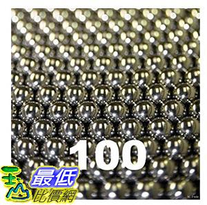 [106美國直購] 100 3/16 Inch Stainless Steel Nail Polish Mixing Agitator Balls