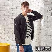 【JEEP】休閒運動風棒球領外套 (黑)