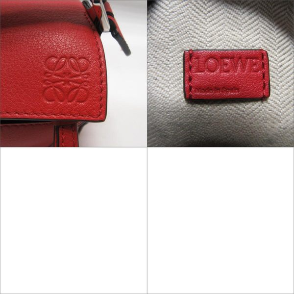 LOEWE 羅威 紅色牛皮迷尼手提/單肩包Mini Puzzle Bag 手提/單肩包 【BRAND OFF】