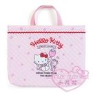 ♥小花花日本精品♥ hello kitty凱蒂貓粉色綿布提袋-草莓款 手提袋 布面提袋 日本製造 33200408