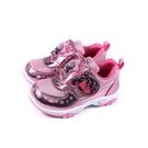 冰雪奇緣 Elsa Anna 休閒運動鞋 電燈鞋 魔鬼氈 粉紅色 中童 童鞋 FOKX15013 no758