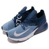 Nike 慢跑鞋 Air Max 270 Flyknit 藍 白 大氣墊 運動鞋 男鞋【PUMP306】 AO1023-400