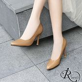 復古時尚OL素面尖頭高跟鞋/3色/35-39碼 (RX0012-C9-82) iRurus 路絲時尚