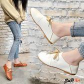 娃娃鞋  圓頭 小白鞋 平底 兩穿 娃娃鞋 休閒 單鞋