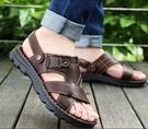 涼鞋 2021新款夏季男士涼鞋真皮休閒沙灘鞋男外穿頭層牛皮涼拖鞋男兩用【快速出貨八折鉅惠】