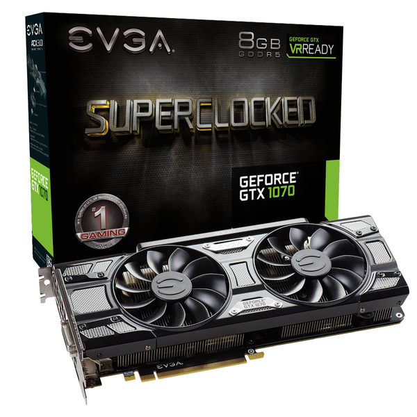 艾維克EVGA GTX1070 8GB SC ACX 3.0 Black Edition 圖形卡