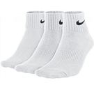 [三雙入] Nike 白色 Quarter Socks 經典運動短襪 白 黑 基本款三包裝短襪 中筒襪 襪子 SX4706-101