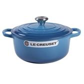 Le Creuset 新款圓形鑄鐵鍋 湯鍋 18cm 1.8L 馬賽藍 法國製