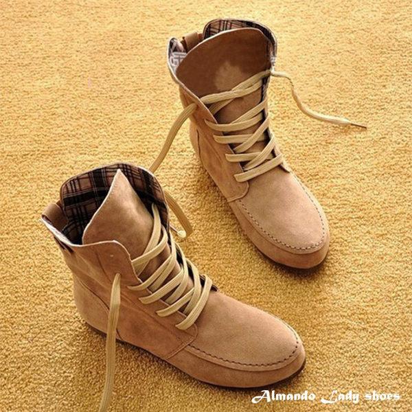 [ALMANDO-SHOES] 秋冬新款繫帶羅馬靴/短靴(共8色)