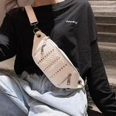 胸包女潮ins腰包街頭單肩側背包可愛日系時尚少女鉚釘潮