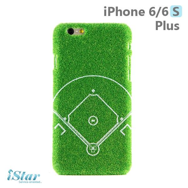iPhone 6/6s Plus 手機殼 日本 獨家代理 草地/草皮/棒球/運動場 硬殼 5.5吋 Shibaful -棒球場