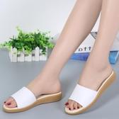 夏季一字拖鞋 平底防滑休閒涼鞋《小師妹》sm1699