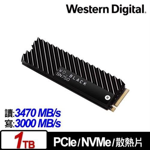 WD 黑標 SN750 1TB NVMe PCIe SSD固態硬碟(EKWB散熱片)