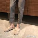 半拖鞋 復古拖鞋外穿同款港風休閒懶人圓頭包頭