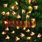 太陽能燈LED裝飾閃爍彩光星星燈串戶外防水花園景觀庭院節日彩燈 【快速出貨】