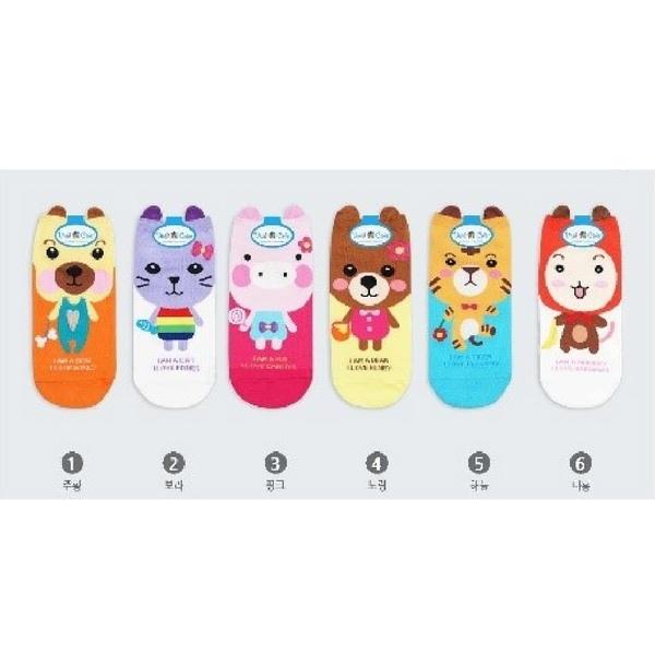 韓國Q版動物短襪-多款任選 (SOCK-010-WS)