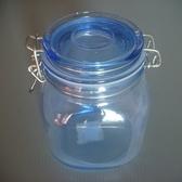 方形扣環儲物罐1000ml 玻璃瓶密封罐收納罐糖果罐保鮮罐