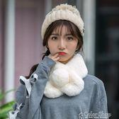 圍巾毛毛圍巾女士冬季可愛毛茸茸仿獺兔毛韓版百搭冬天加厚毛絨圍脖女  color shop