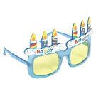 生日蛋糕眼鏡1入-藍