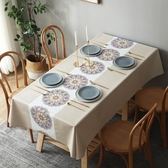 餐桌墊桌布防水防油防燙免洗餐桌布長方形臺布茶幾布桌墊PVC北歐YJ328【雅居屋】