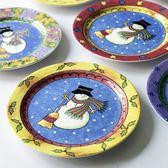 西餐盤子陶瓷盤菜盤聖誕風格家用餐盤歐式蛋糕盤創意餐具家居裝飾  電購3C