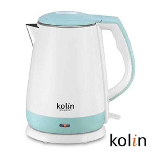 歌林 KOLIN 雙層防燙不鏽鋼快煮壺 1.5L (KPK-MNR1541) 優質福利品 可超取
