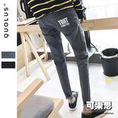 後口袋英文字樣 修身男生牛仔褲 牛仔長褲 休閒長褲 休閒褲 男【HK-K811】『可樂思』
