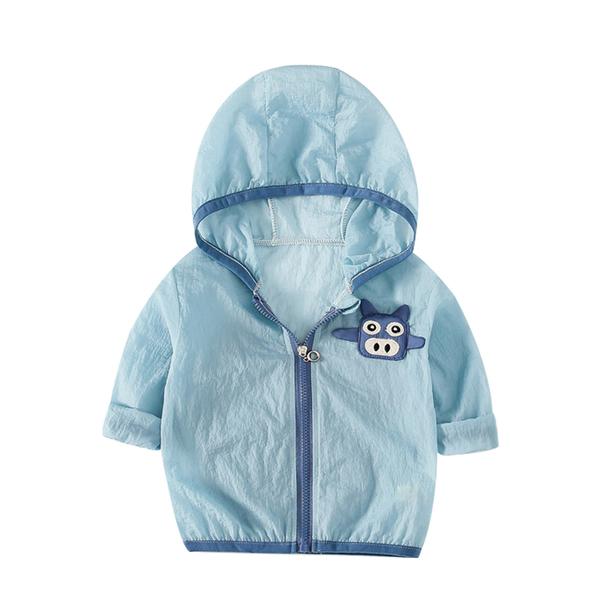 韓版兒童外套 男童寶寶連帽防曬外套 可收納薄外套 88463