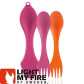 【Light My Fire 瑞典 魔術湯匙盒 湯匙2入 橘/紫紅】LF4144-93/魔術湯匙/環保湯匙/戶外餐具
