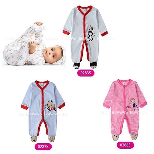 超低折扣NG商品~長袖包腳兔裝 寶寶前開長袖連身衣/包腳兔裝 LZ2979 好娃娃