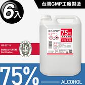 台灣GMP工廠製造75%酒精清潔液大容量4公升(6桶組)(BP0007)