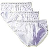 HUGO BOSS 男時尚彈力三角內著3件組(白色)