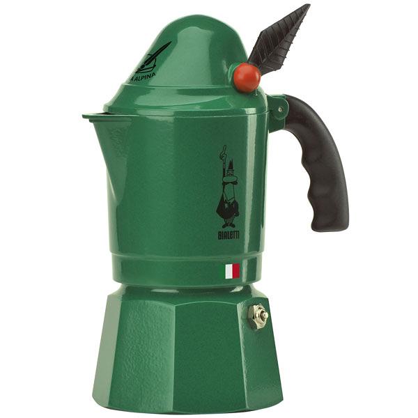 【Bialetti ALPINA】小飛俠摩卡壺-3杯份(贈Bialetti 專用罐裝咖啡粉)