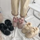 雪地靴 女冬季新款加厚雪地棉面包鞋中筒加絨保暖一腳蹬棉鞋潮