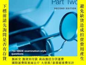 二手書博民逛書店Mosby s罕見Review for the NBDE Part II,second editionY428