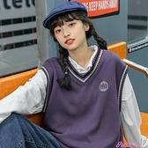 針織馬甲日系針織毛衣2021年新款女寬鬆外穿套頭慵懶風韓版學院風馬甲背心 JUST M